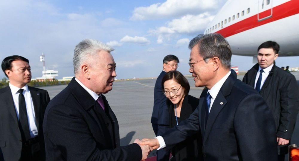 Оңтүстік Корея президенті мемлекеттік сапармен Нұр-Сұлтанға келді