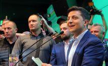 Кандидат в президенты Украины от партии Слуга народа Владимир Зеленский