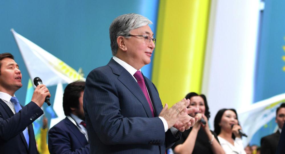Президент Казахстана Касым-Жомарт Токаев принял участие в работе XIX внеочередного съезда партии Nur Otan