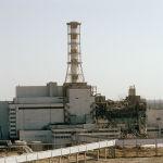 Төртінші реактордан қарағандағы Чернобыль АЭС-нің көрінісі, 1986 жыл