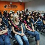 Участницы национального конкурса красоты Мисс Казахстан в пресс-центре Sputnik