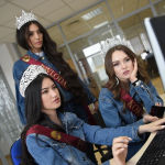 Экскурсия финалисток конкурса Мисс Казахстан 2019 в редакцию Sputnik Казахстан