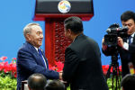 Қазақстанның Тұңғыш президенті Нұрсұлтан Назарбаев Бір белдеу, бір жол халықаралық форумына қатысып жатыр
