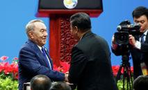 Первый президент Казахстана, Елбасы Нурсултан Назарбаев принимает участие в форуме Один пояс, один путь