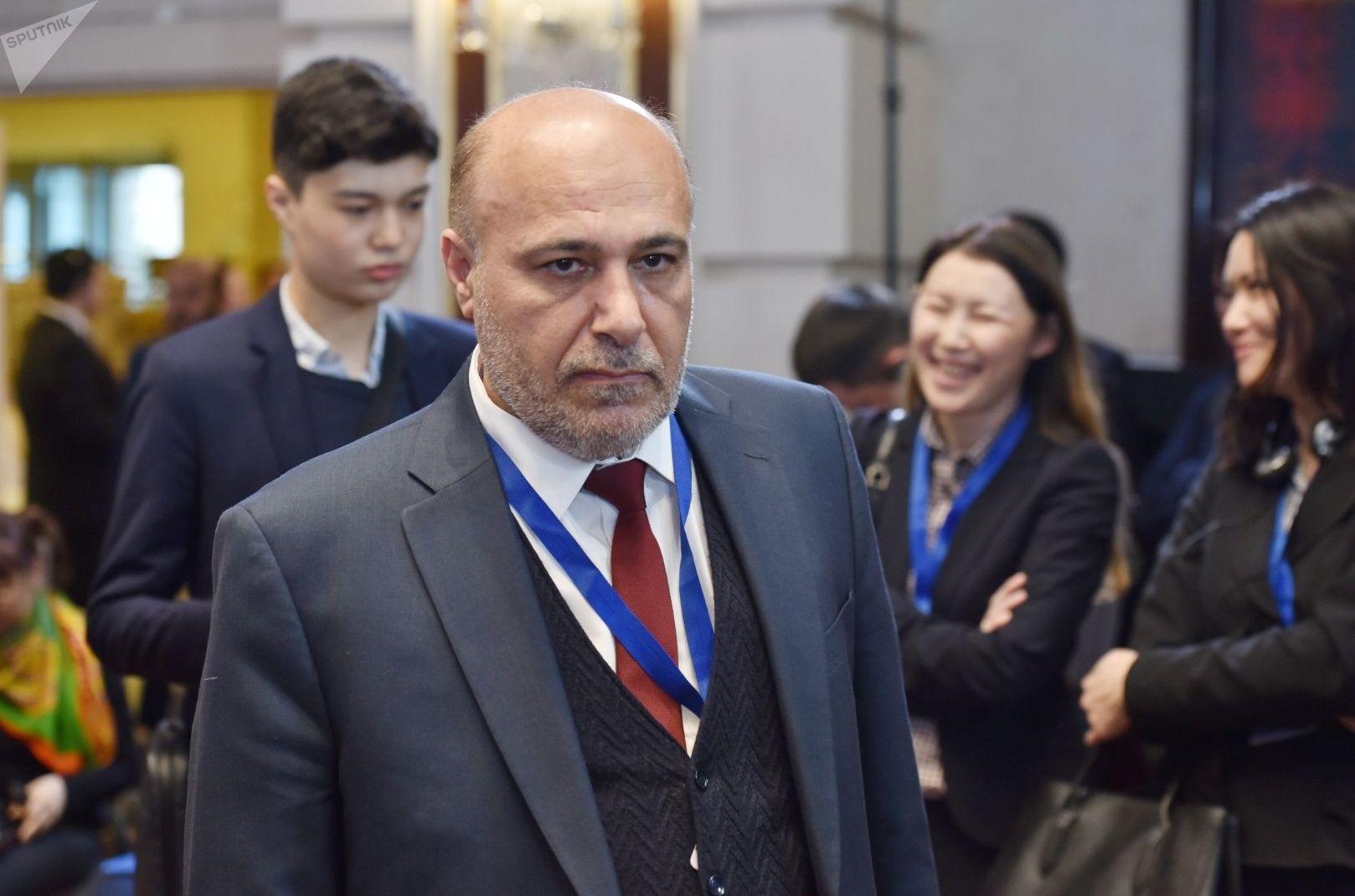 Двенадцатый раунд переговоров по Сирии состоялся в Нур-Султане. На фото: представитель оппозиции