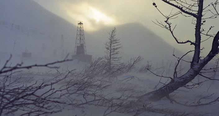 Архивное фото зимней непогоды