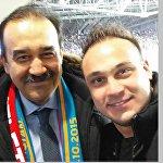 Олимпиада чемпионы, зілтемірші Илья Ильин ҰҚК төрағасы Кәрім Мәсімовпен селфи жасаған