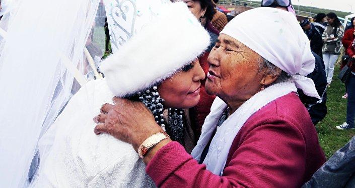 Национальный свадебный обряд Беташар (открытие лица невесты)