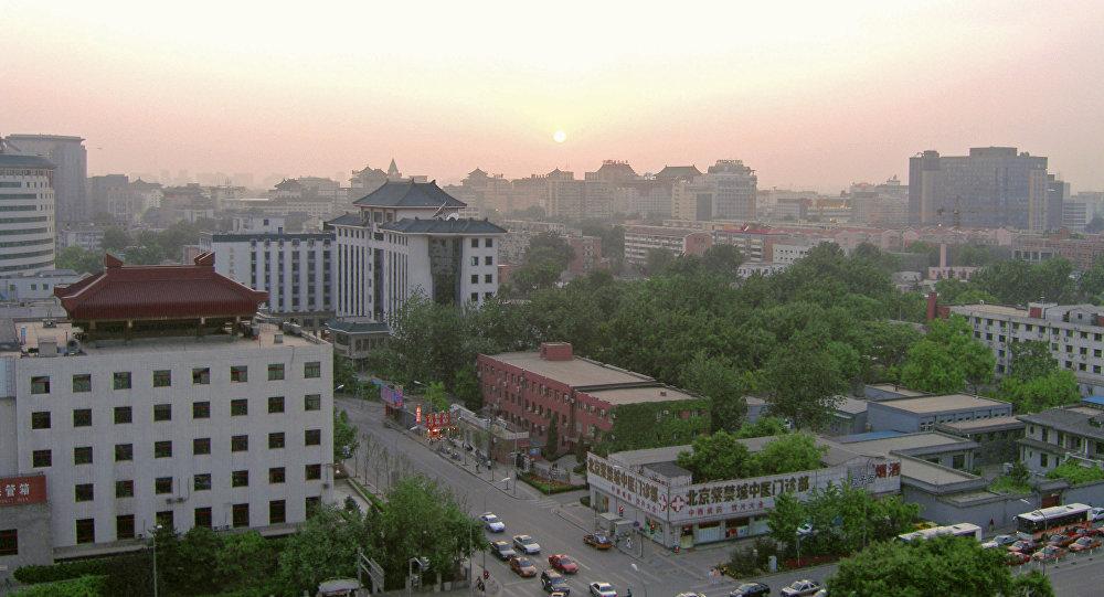 Пекин ранним утром, архивное фото