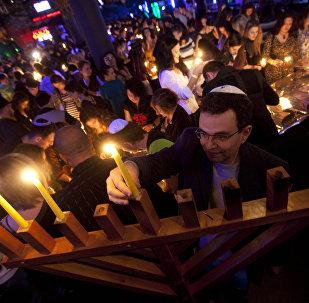 Торжества в честь еврейского праздника Ханука в клубе Zona в Москве