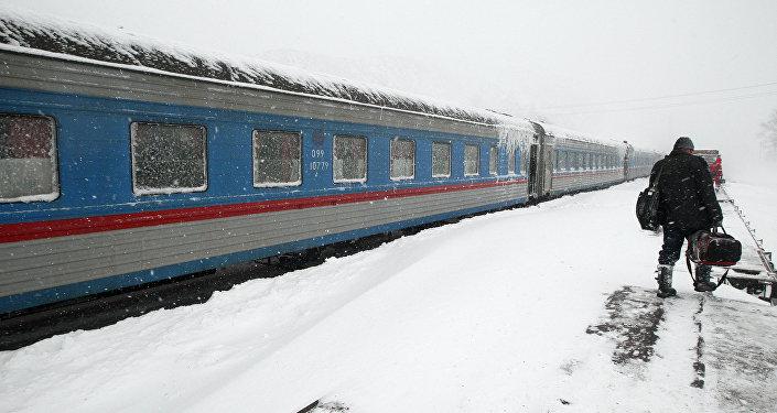 Архивное фото поезда