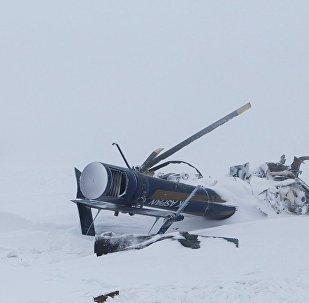 Обломки вертолета в Алматинской области