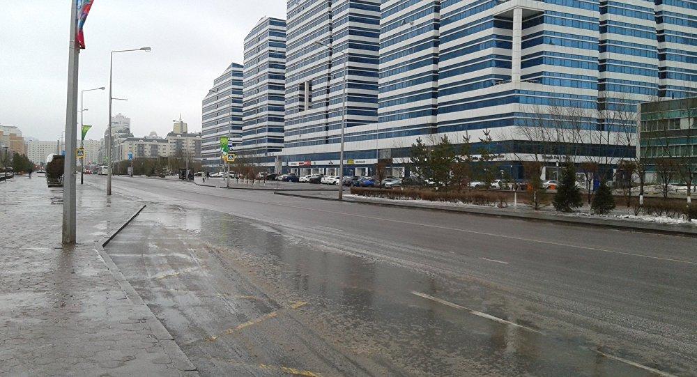 Астанада көктайғақ, архивтегі сурет