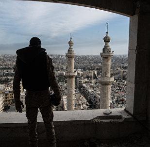 Архивное фото военнослужащего в Сирии