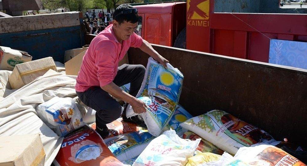 Гуманитарная помощь. Архивное фото