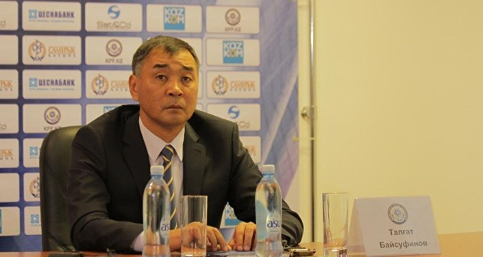 Қазақстан футбол құрамасының бас бапкері Талғат Байсуфинов