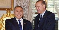 Нурсултан Назарбаев и Реджеп Эрдоган, архивное фото