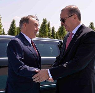 Нурсултан Назарбаев и Реджеп Эрдоган