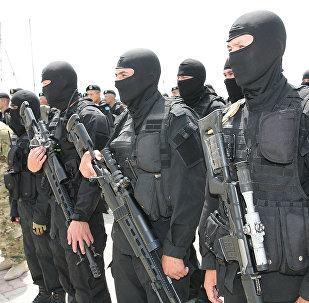 Архивное фото антитеррористических учений КНБ