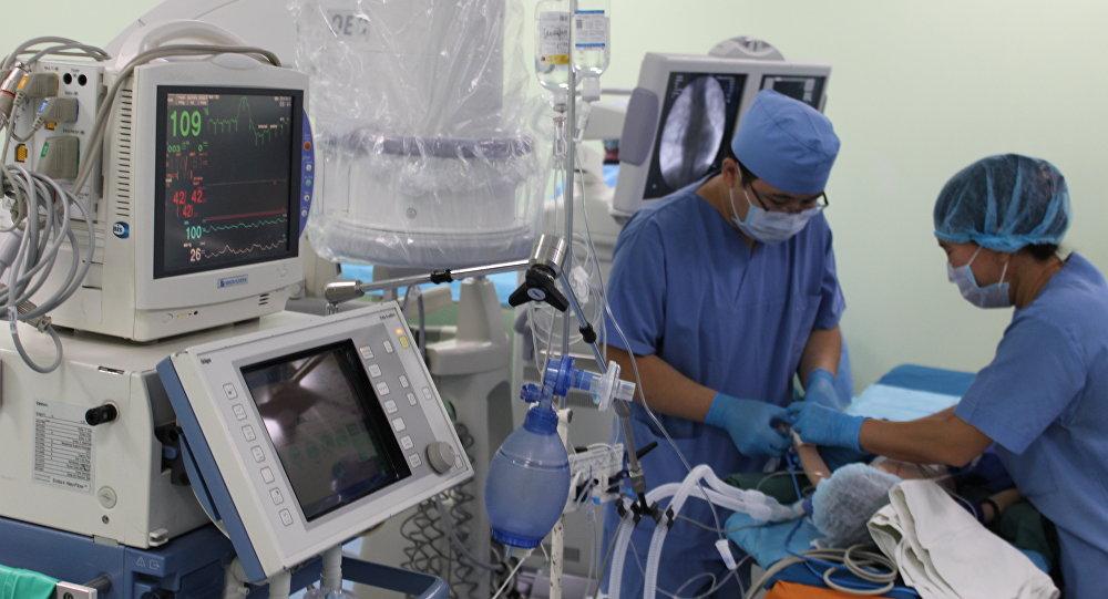 Национальный Научный Медицинский Центр Астаны. Во время операции на сердце
