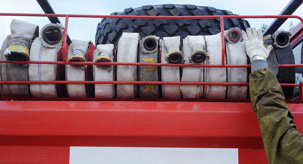 Архивное фото пожарных рукавов