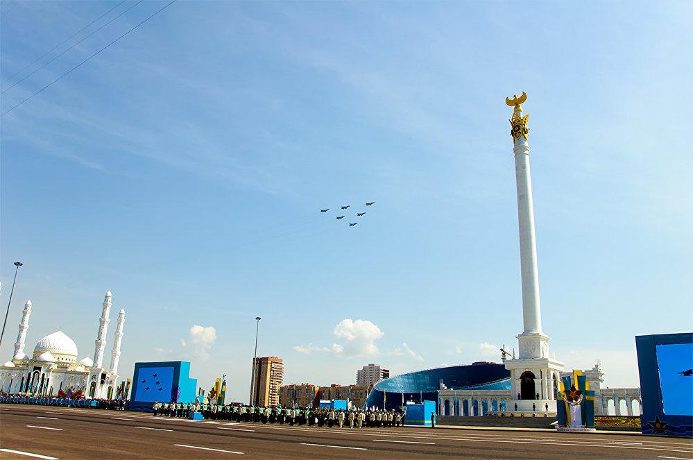 Военный парад в Астане 07.05.2015