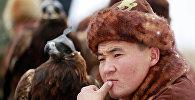 Архивное фото казахского беркутчи