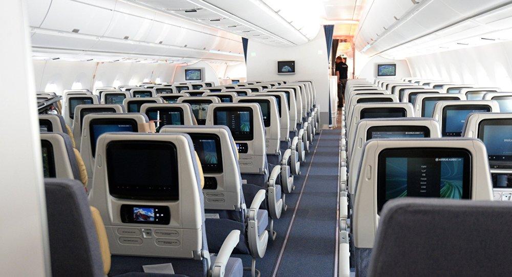 Архивное фото салона пассажирского самолета