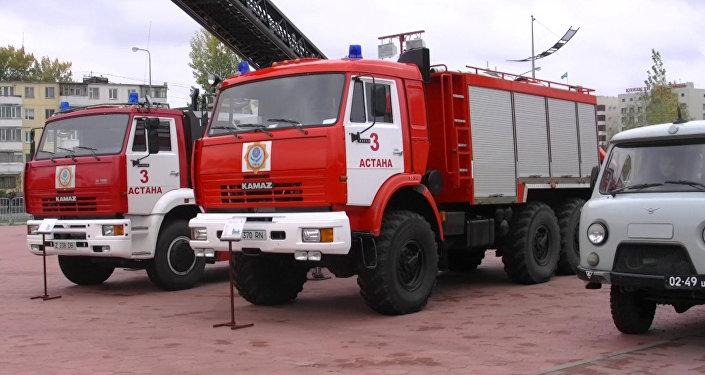 Пожарные расчеты, архивное фото