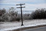 Зима, погода, линии, электролинии, электричество, похолодание, дорога, свет, линия