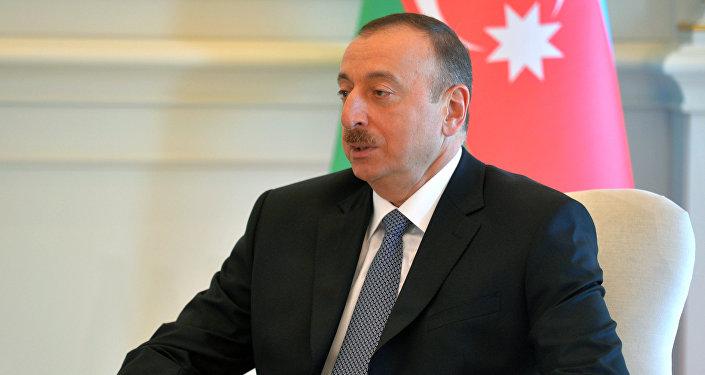 Архивное фото президента Азербайджана Ильхама Алиева