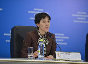 Архивное фото министра здравоохранения и соцразвития Казахстана Тамары Дуйсеновой