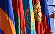 Государственные флаги стран-участниц Евразийского экономического союза (ЕАЭС)