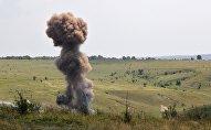 Уничтожение боеприпасов, архивное фото