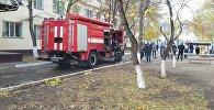 Пожар в доме в Астане, архивное фото